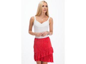 Červená sukně 11890 (Velikost L)