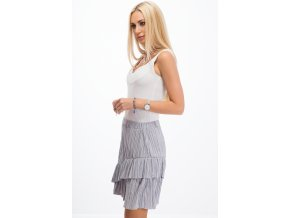 Šedo-stříbrná sukně 11890 (Velikost L)
