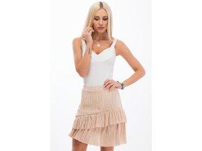 Dámská sukně béžová 11890 (Velikost M)