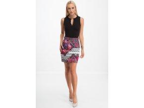 Dámská sukně se vzory / červená 8493 (Velikost L)
