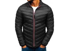 Pánská zimní sportovní bunda černá PLY1015