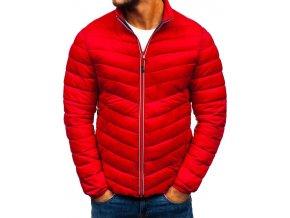 Pánská zimní sportovní bunda červená PLY1015