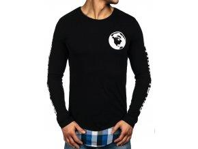 Mikina černo-modrá 0778 (Velikost XL)