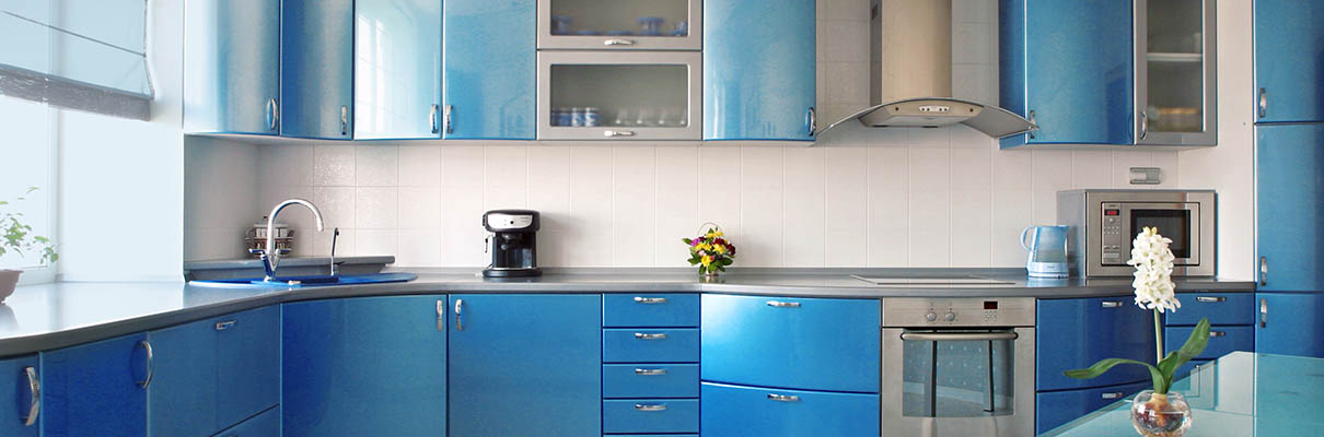 modrá kuchyně