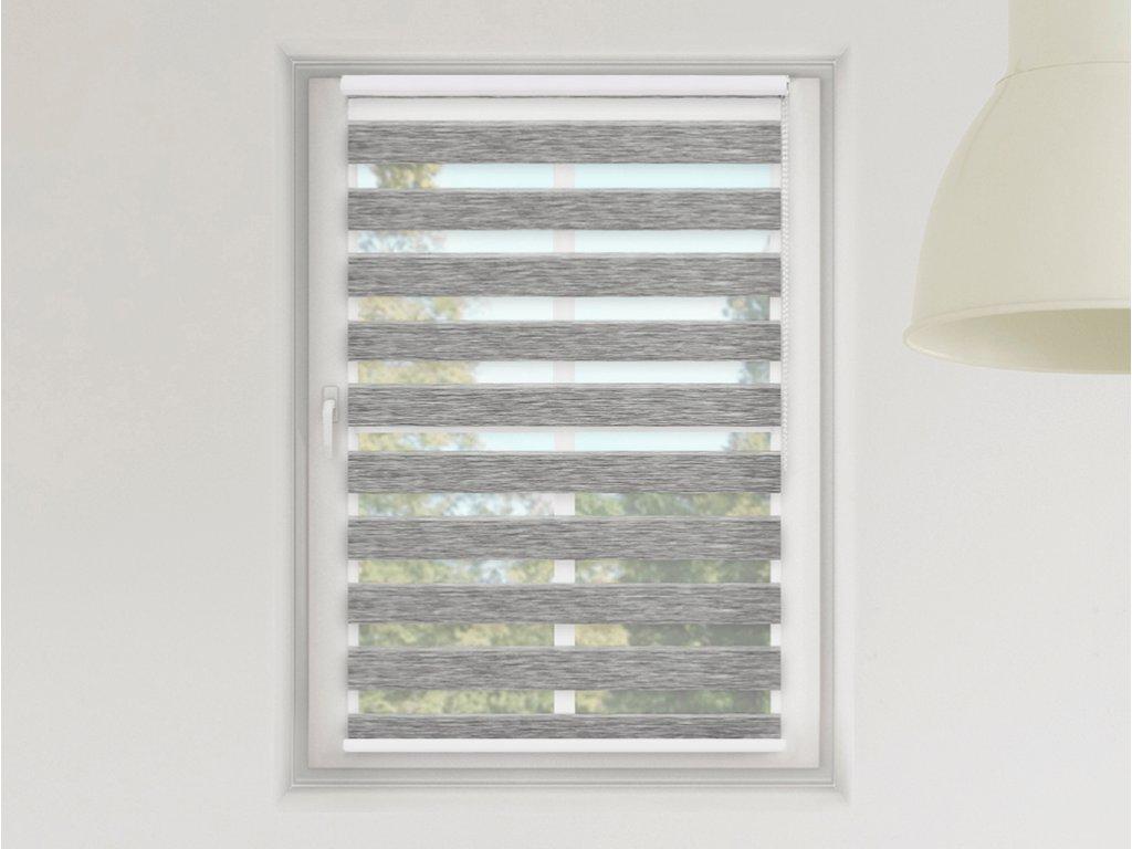 Roleta Den a noc MAXI, Luxus nature šedá bříza, A 01501