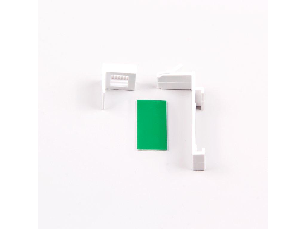 Horní plastový háček pro zavěšení pro otevřenou kazetu, bílá