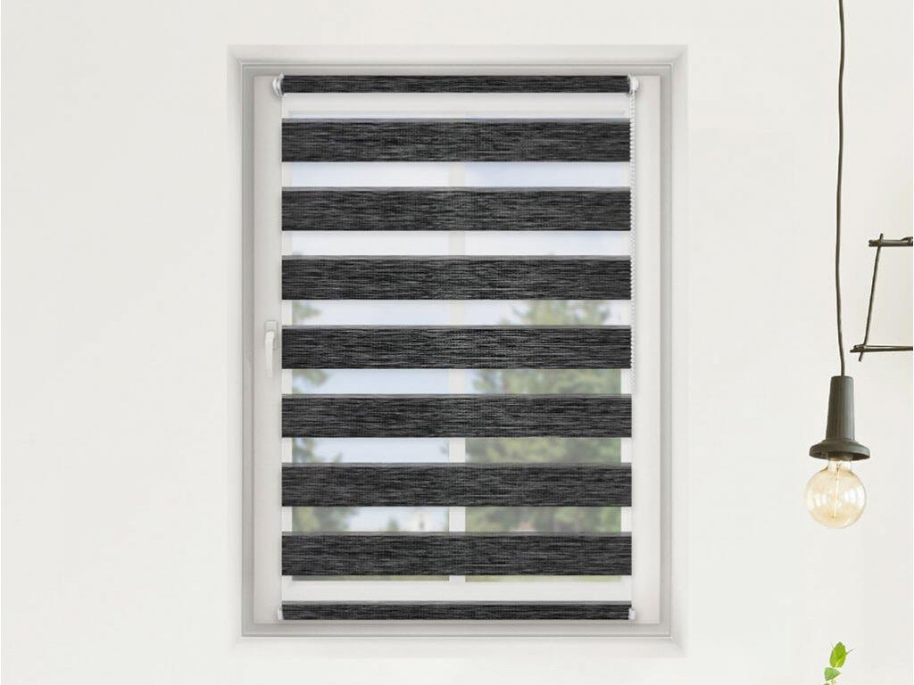 Roleta Den a noc, Oriental černá bříza, AA 107