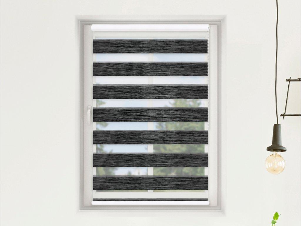 Roleta Den a noc MAXI, Oriental černá bříza, AA 107