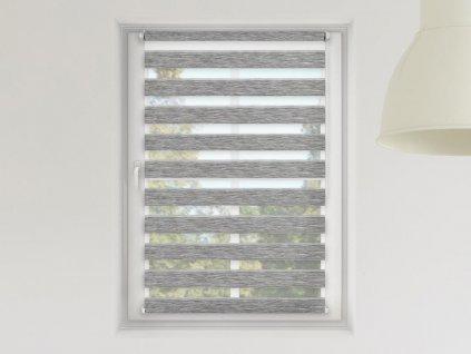 Roleta Den a noc, Luxus nature šedá bříza, A 01501