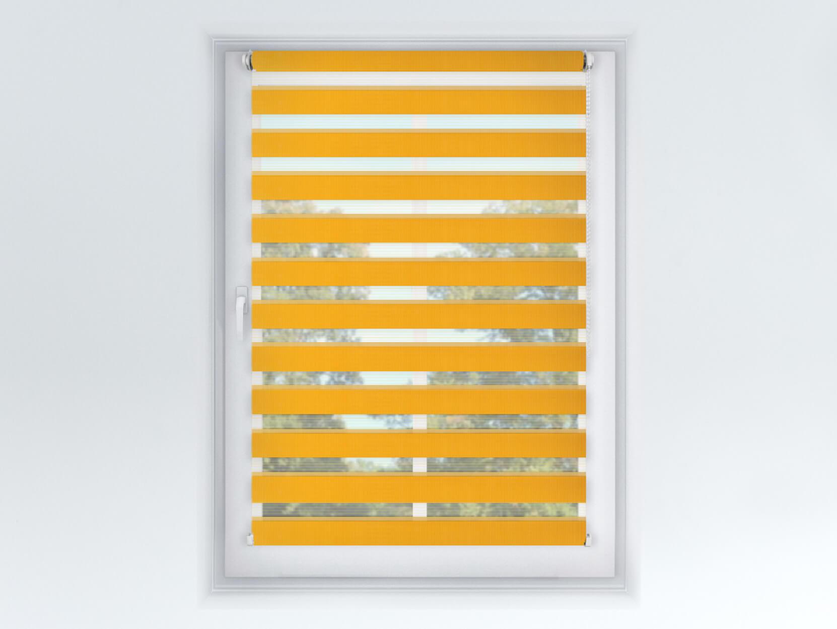 FEXI Roleta Den a noc, Origin slim mango, A 032 Výška rolety: 150 cm, Šířka rolety: 33 cm, Strana a barva mechanismu: Levá - Bílá