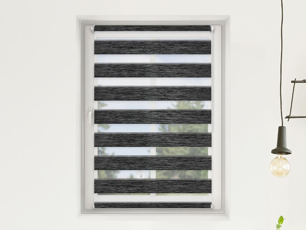 FEXI Roleta Den a noc, Oriental černá bříza, AA 107 Výška rolety: 150 cm, Šířka rolety: 102 cm, Stra