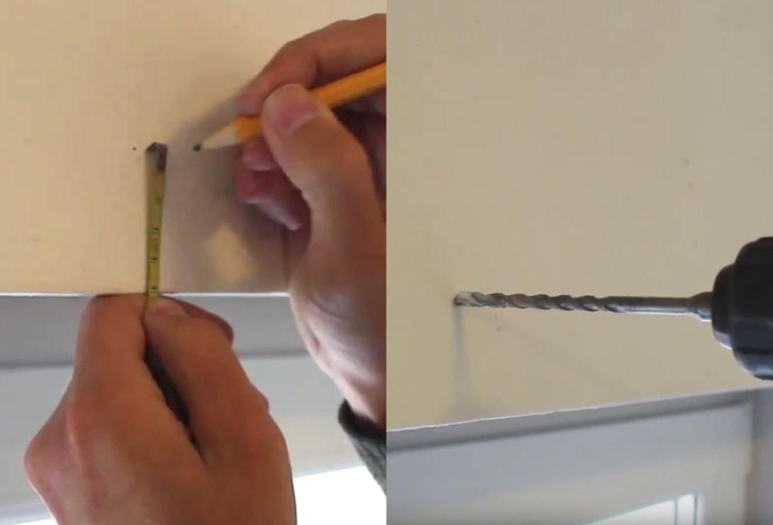 Montáž s vŕtaním do steny a stropu