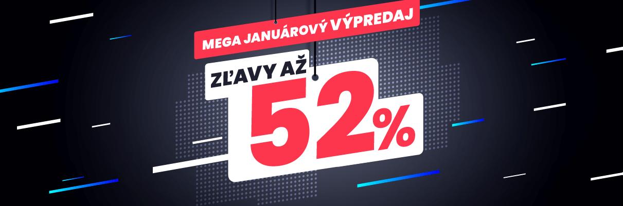 Mega januárový výpredaj 52%