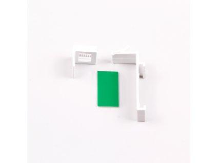 Horný plastový háčik na zavesenie pre otvorenú kazetu, biela