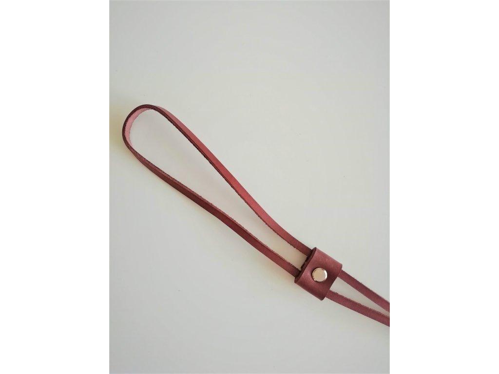 Kožený uťahovač na ruksak - hnedá