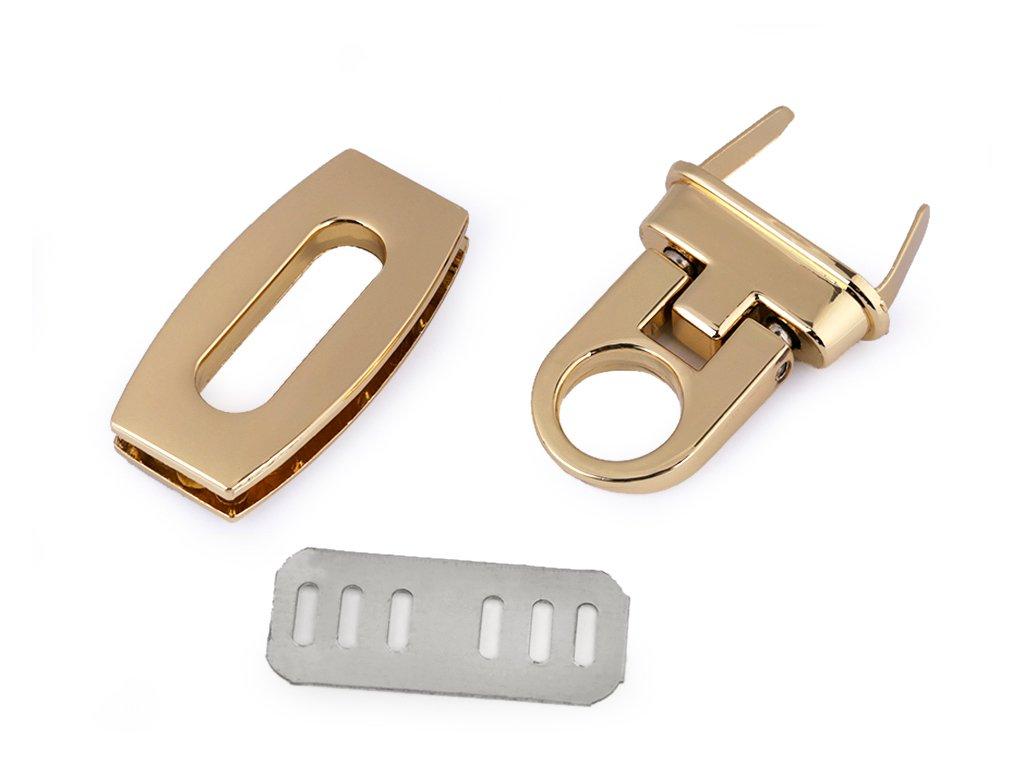 Sada zapínania na kabelku 20x40 mm - zlatá
