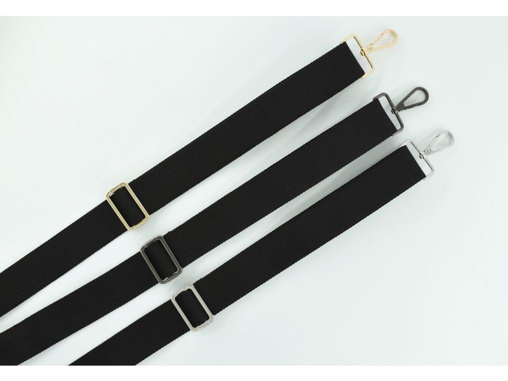 Popruh na kabelku čierny
