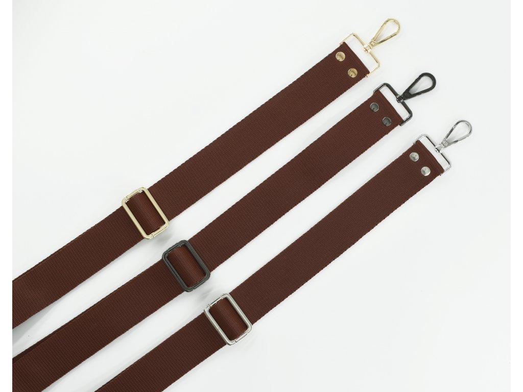Popruh na kabelku hnedý