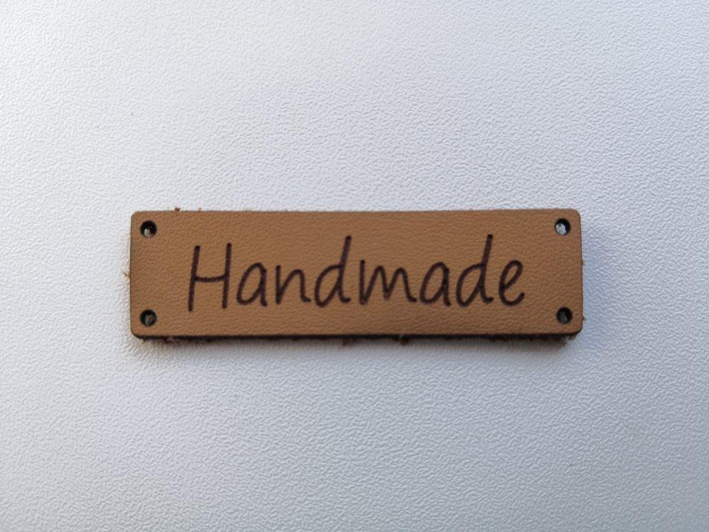 Nášivka HANDMADE 3  - ekokoža