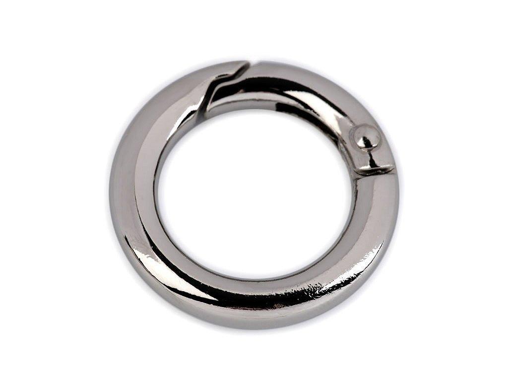 Karabínka okrúhla na kabelky Ø18 mm nikel