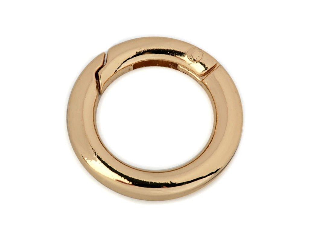 Karabínka okrúhla na kabelky Ø18 mm zlatá