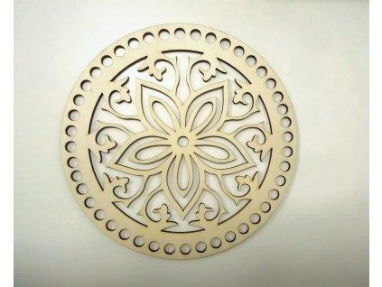 Drevený výrez kvet - Kruh 20cm
