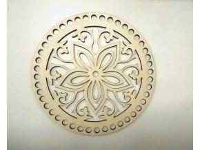 Drevený výrez kvet - Kruh 15cm