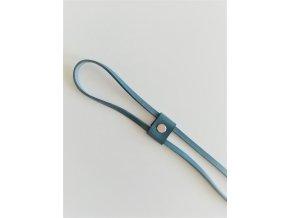 Kožený uťahovač na ruksak - modrá