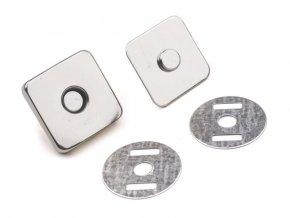 Magnetické zapínanie na tašku 18x18 mm nikel