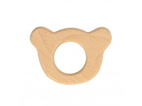 Drevený krúžok medvedík