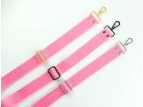 Popruh na kabelku svetloružový