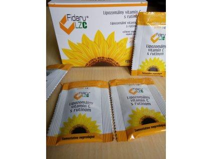 Fidaru LZC® - lipozomálny vitamín C s RUTÍNOM, prášok - 2,5 g vrecká v počte 54 ks, celková  hmotnosť 135 g
