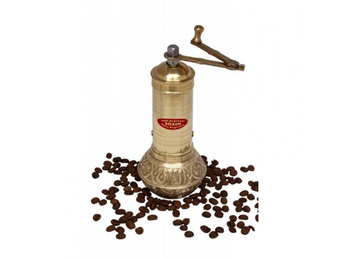 rucne zdobeny mlynek na kavu i koreni sozen vyska 15 cm