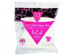 Hario V60 03 papírové filtry bělené