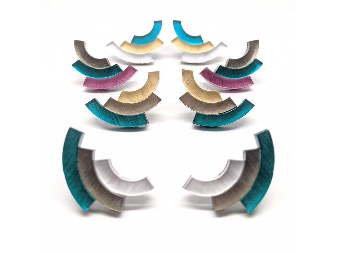Rainbow - Teal / náušnice