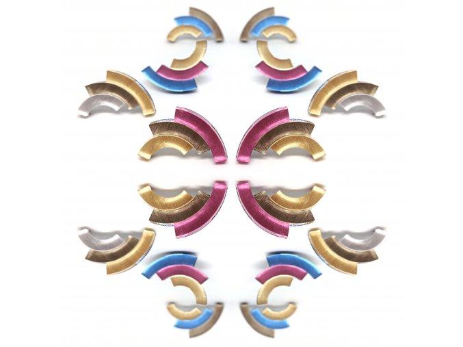 Rainbow - gold / náušnice