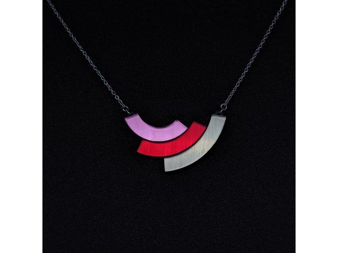 Rainbow - Red / náhrdelník
