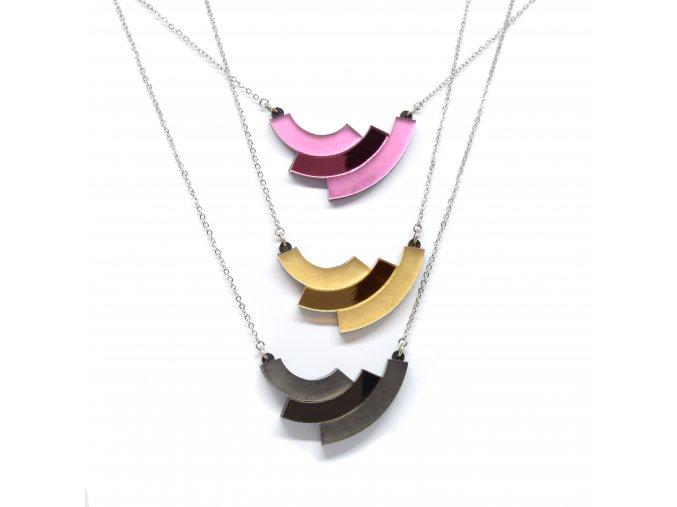 Rainbow - GLOSS AND MATT / náhrdelník