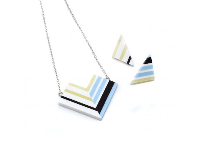 Strata - náhrdelník + náušnice