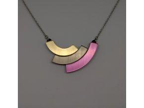 Rainbow - Gold / náhrdelník