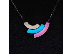 Rainbow - Teal / náhrdelník