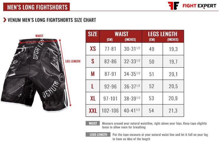 size_table_venum_mens_long_shorts