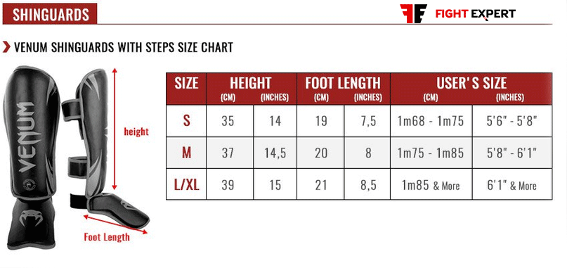 size_table_venum_shinguards_steps
