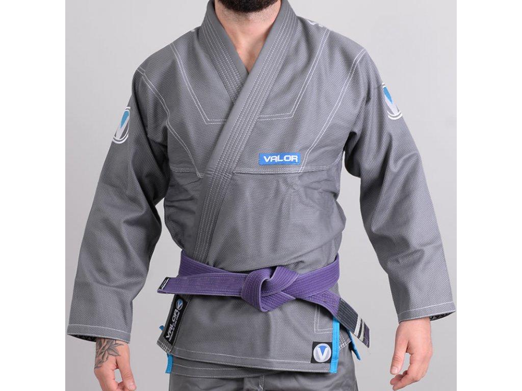 BJJ gi kimono Valor Prime 2.0 Premium Lightweight GREY + gi bag