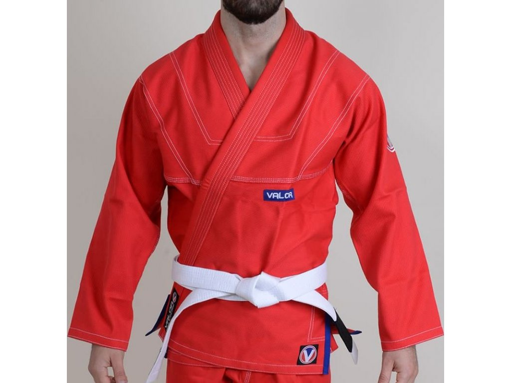 BJJ gi kimono Valor Prime 2.0 Premium Lightweight RED + gi bag