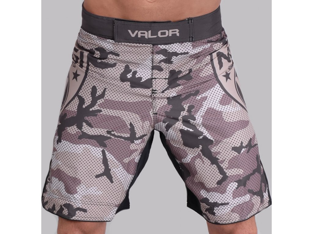 MMA Shorts Valor Liquid Camo DESERT no-gi