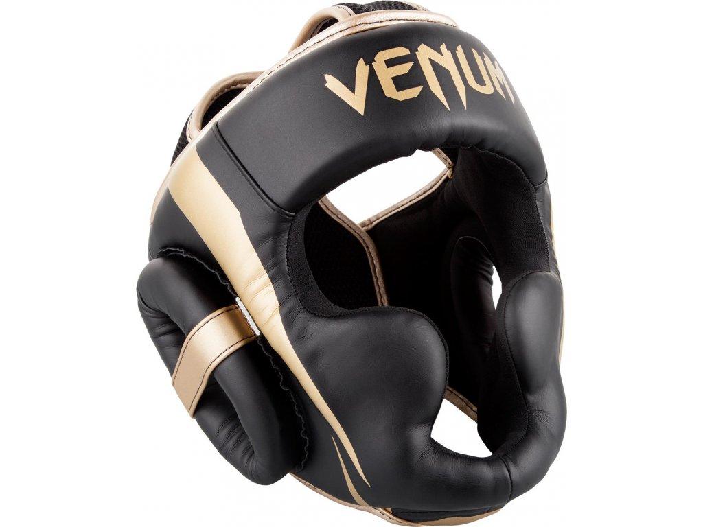 Box/MMA Headgear Venum Elite - Black/Gold