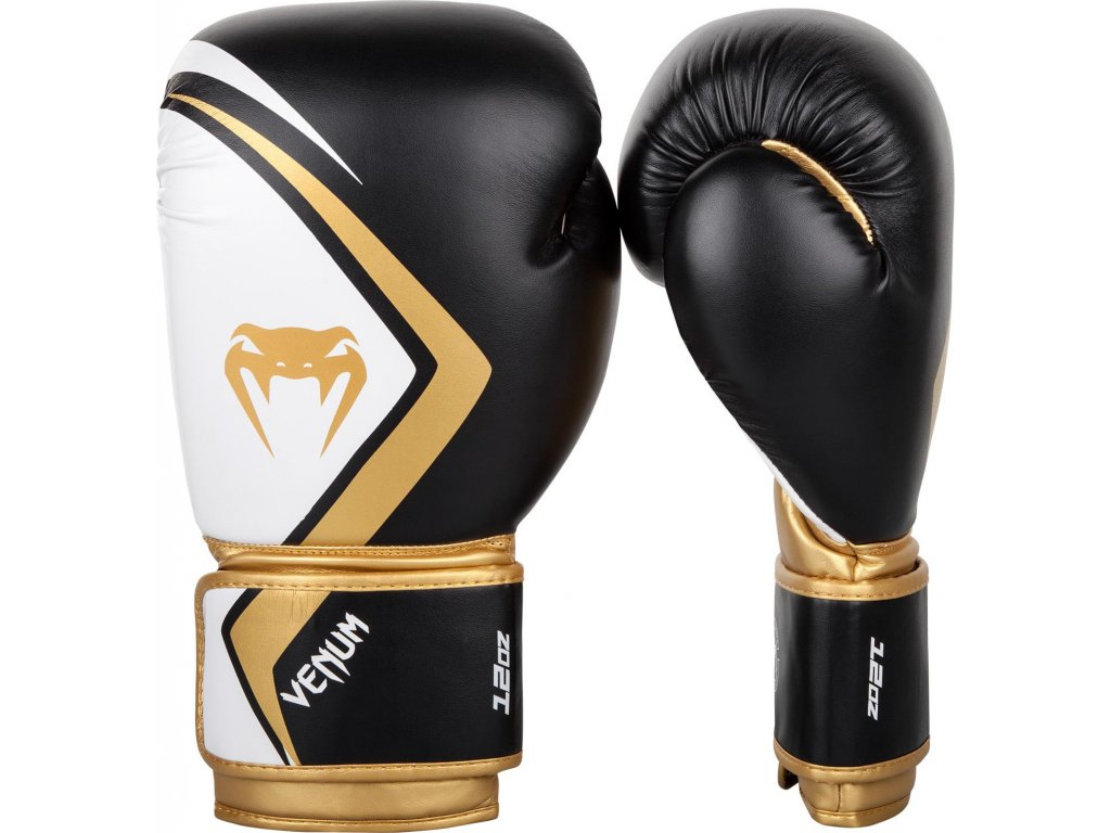 Boxing Gloves Venum Contender 2.0 Black/White/Gold
