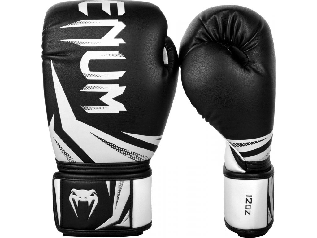 Boxing Gloves Venum Challenger 3.0 - Black/White  + FREE Boxing Hand Wraps Bail 3,5m