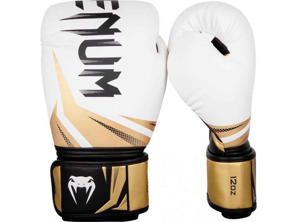 Boxing Gloves Venum Challenger 3.0 - White/Black-Gold